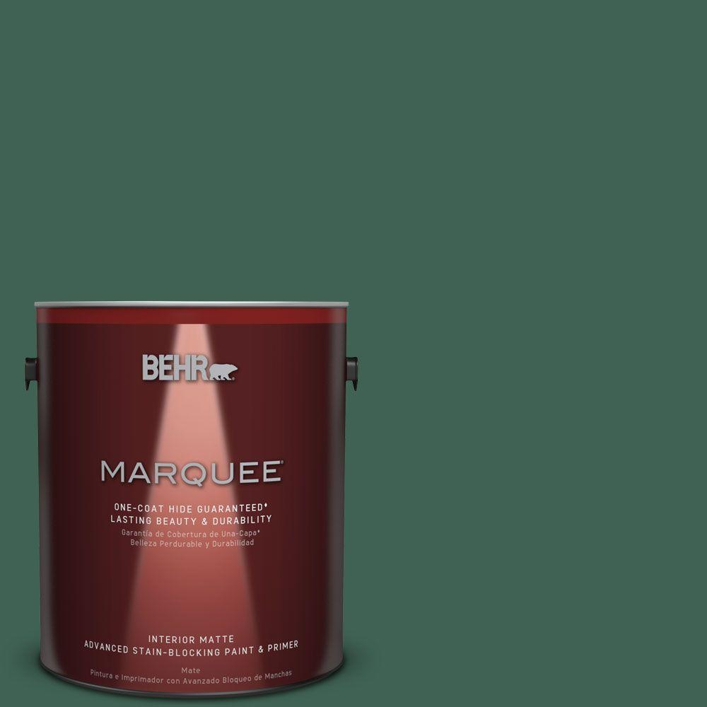 1 gal. #M430-7 Green Agate One-Coat Hide Matte Interior Paint