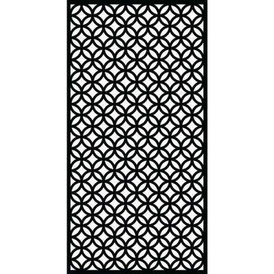 Halo 0.3 in. x 71 in. x 2.95 ft. Recycled Plastic Decorative Screen in Slimline Frame in Charcoal (Bundle of 3)