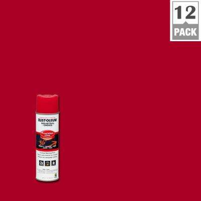 17 oz. M1600 System Precision Line Solvent-Based Safety Red Inverted Marking Spray Paint (12-Pack)