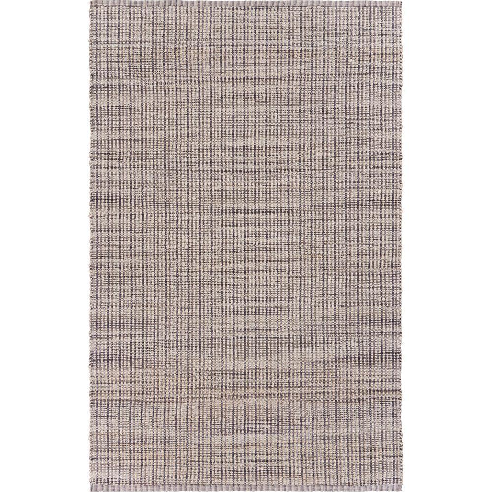 Bleached Naturals Beige/Brown 2 ft. x 3 ft. Checks Plaid Jute Blend Area Rug