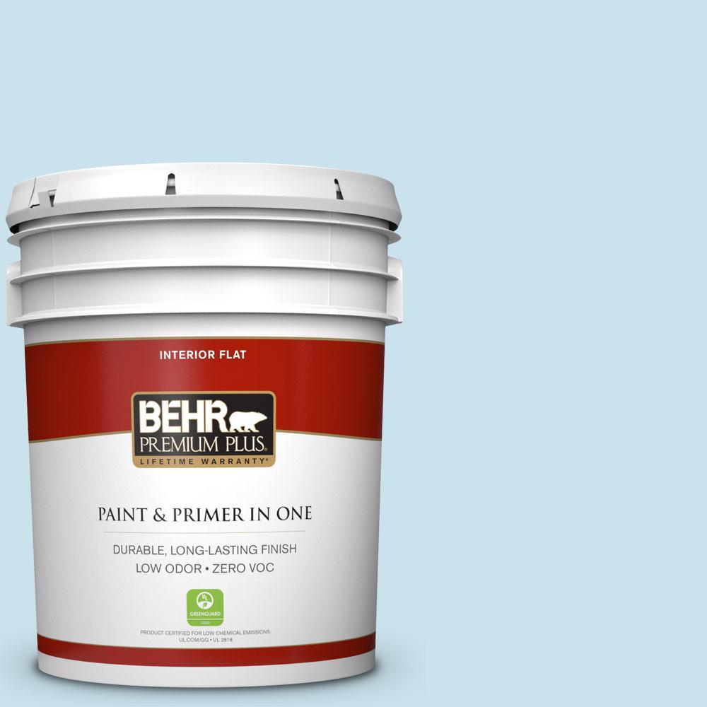 BEHR Premium Plus 5-gal. #PPL-24 Endless Sky Zero VOC Flat Interior Paint