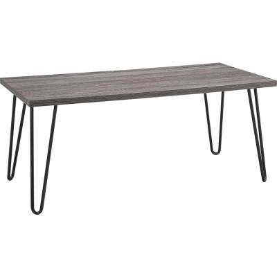 Montrose 42 in. Distressed Gray Oak Large Rectangle Particle Board Coffee Table