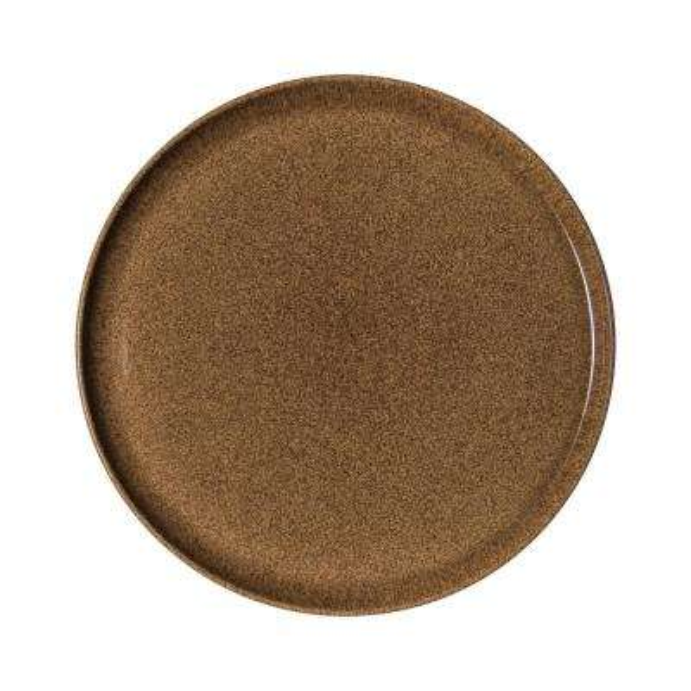 Studio Craft Chestnut Stoneware Round Platter