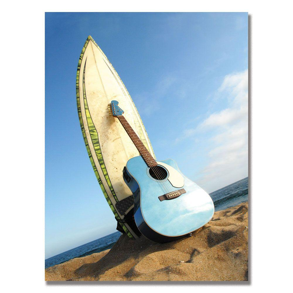 Trademark Fine Art 24 in. x 32 in. Fender Acoustic Surf Canvas Art