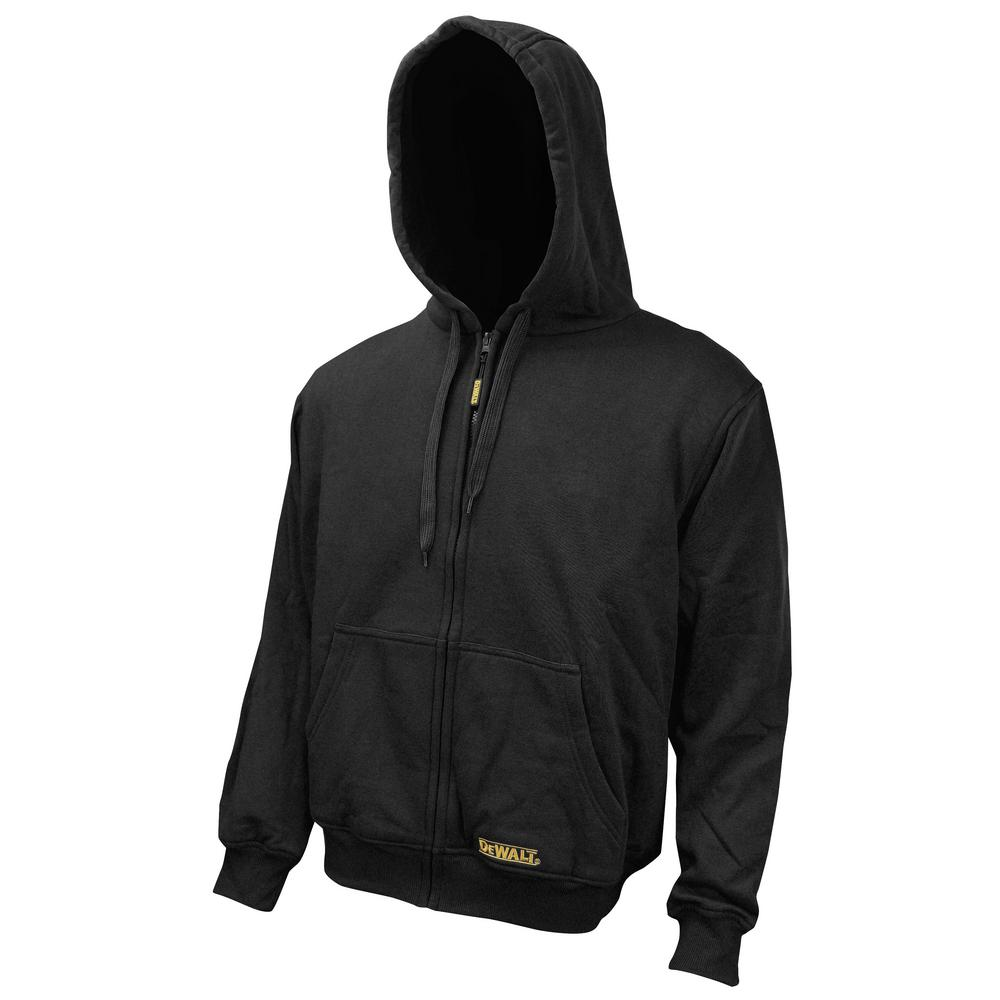 DEWALT 3X-Large 20-Volt MAX Black Heated Hoodie Kit with (1) 2.0Ah Battery and Charger with USB Port