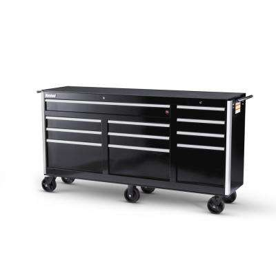 Tech Series 73 in. 11-Drawer Roller Cabinet Tool Chest Black