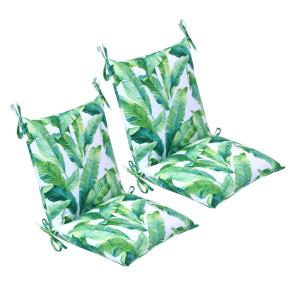 20 in. x 37 in. x 3 in. Hanalei Outdoor Mid-back Dining Chair Cushion (2 Pack)
