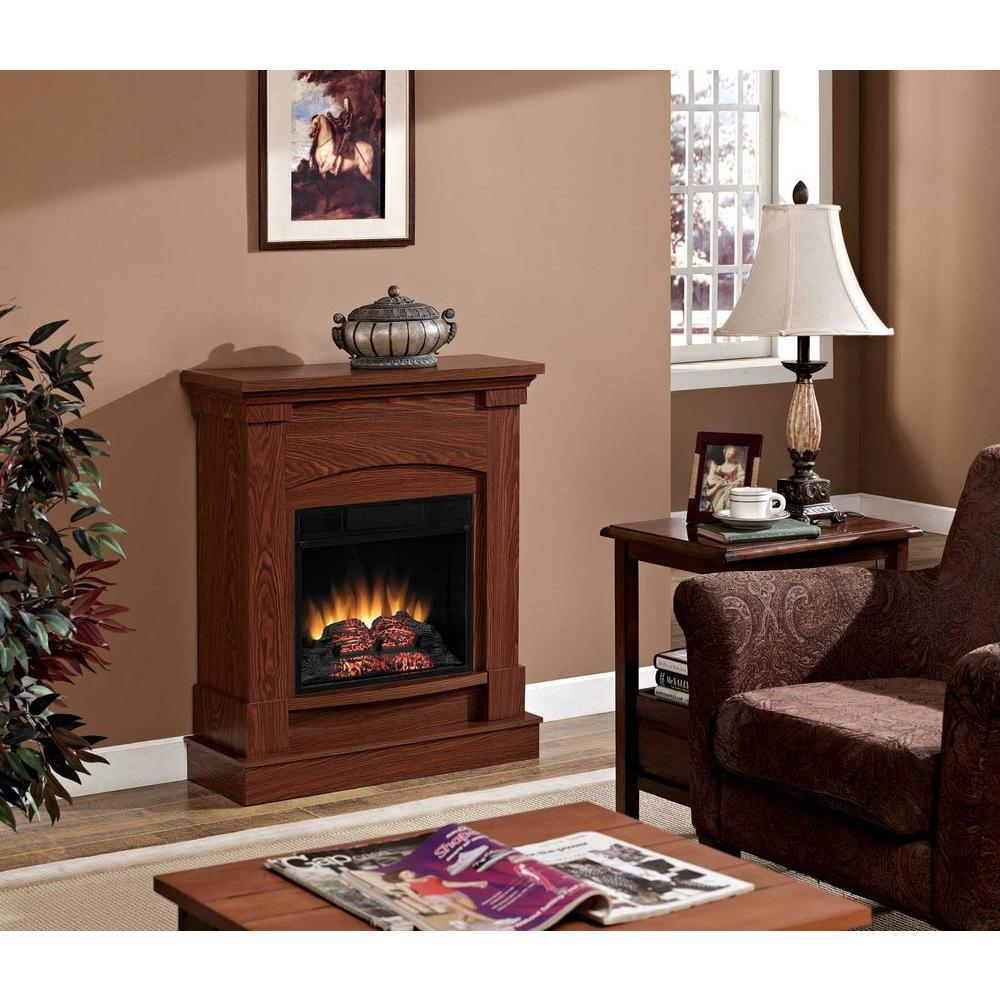 Chimney Free Akron 31 in. Space Saver Electric Fireplace in Oak
