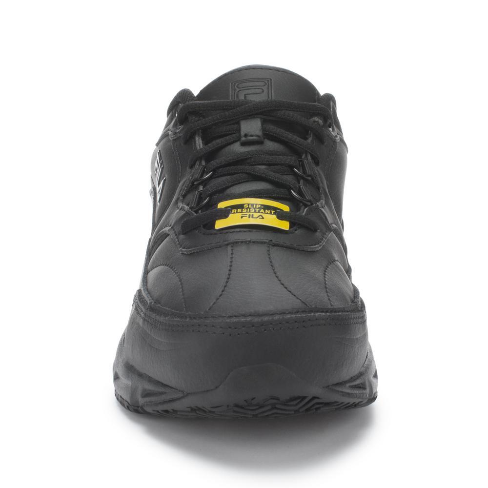 Fila Men's Memory Workshift Slip Resistant Athletic Shoes Soft Toe BLACK Size 11.5(M)