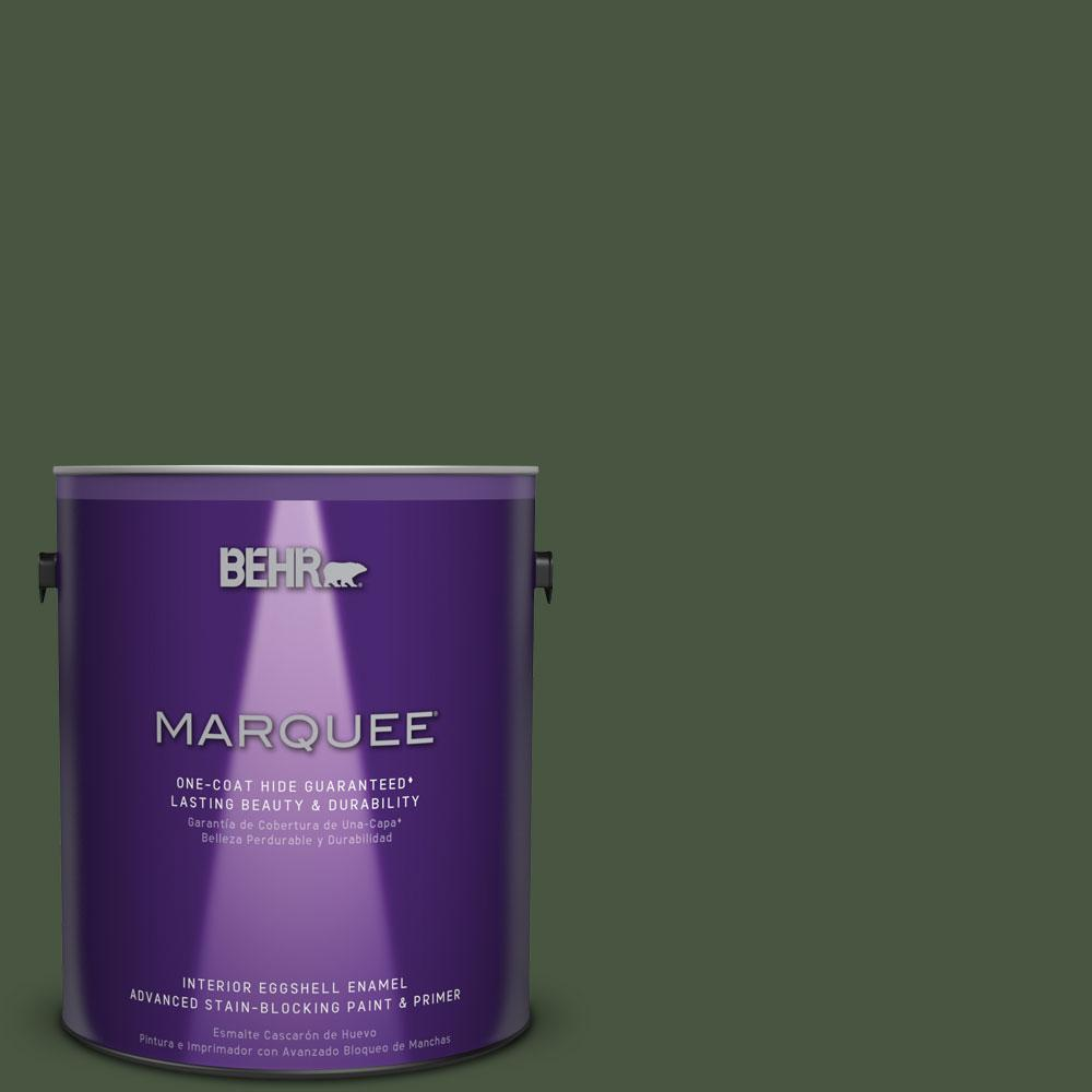 1 gal. #MQ6-49 Chard One-Coat Hide Eggshell Enamel Interior Paint
