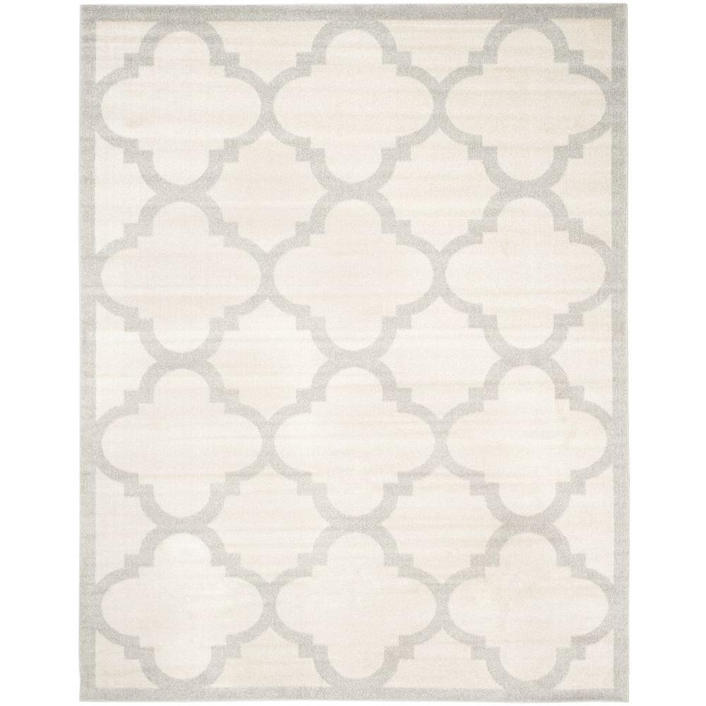 Amherst Beige/Light Gray 8 ft. x 10 ft. Indoor/Outdoor Area Rug