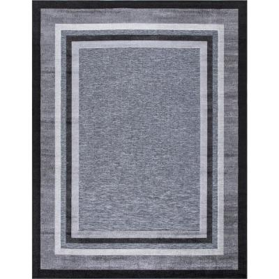 Eternity Black 8 ft. x 10 ft. Indoor/Outdoor Area Rug