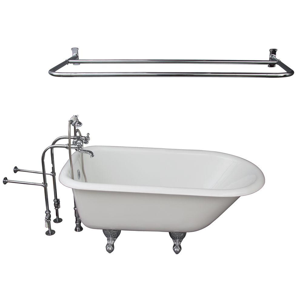 Barclay Products 4 5 Ft Cast Iron Ball And Claw Feet Roll Top Tub