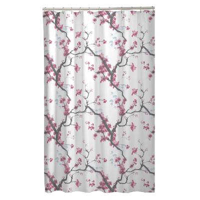 70 in. x 72 in. Cherrywood Cherry Blossom Fabric Shower Curtain