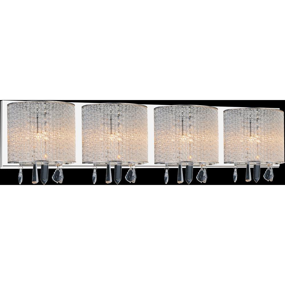 Benson 4-Light Chrome Sconce