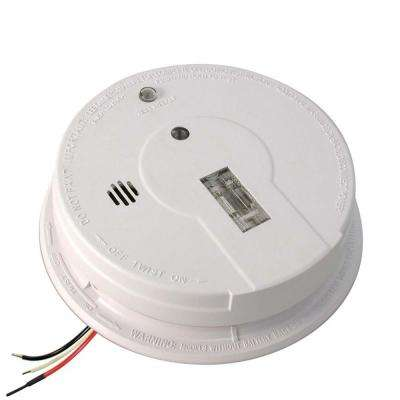 Hardwired Interconnectable Ionization Smoke Alarm with Escape Light and Battery Backup i12080