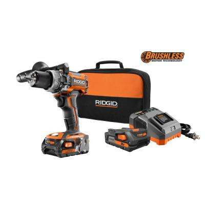 18-Volt Gen5x Lithium-Ion 1/2 in. Cordless Brushless Compact Hammer Drill Kit with (2) 1.5Ah Batteries, Charger and Bag