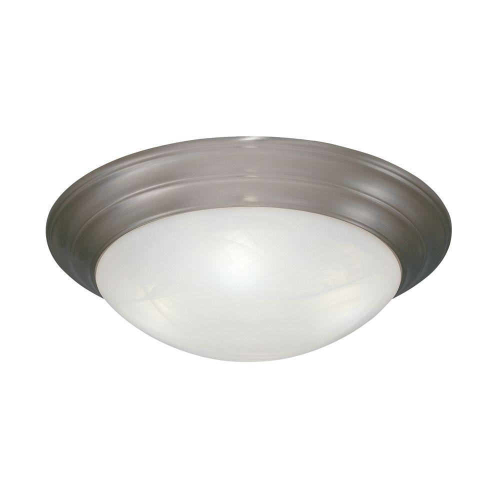 Clovis Collection 2-Light Pewter Ceiling Flushmount