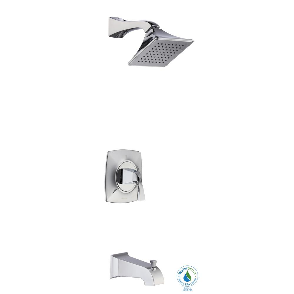 Glacier Bay Leary Curve Single-Handle 1-Spray Tub and Shower Faucet in Chrome (Valve Included)