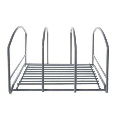 3-Compartment Metal Kitchen Cabinet Organizer