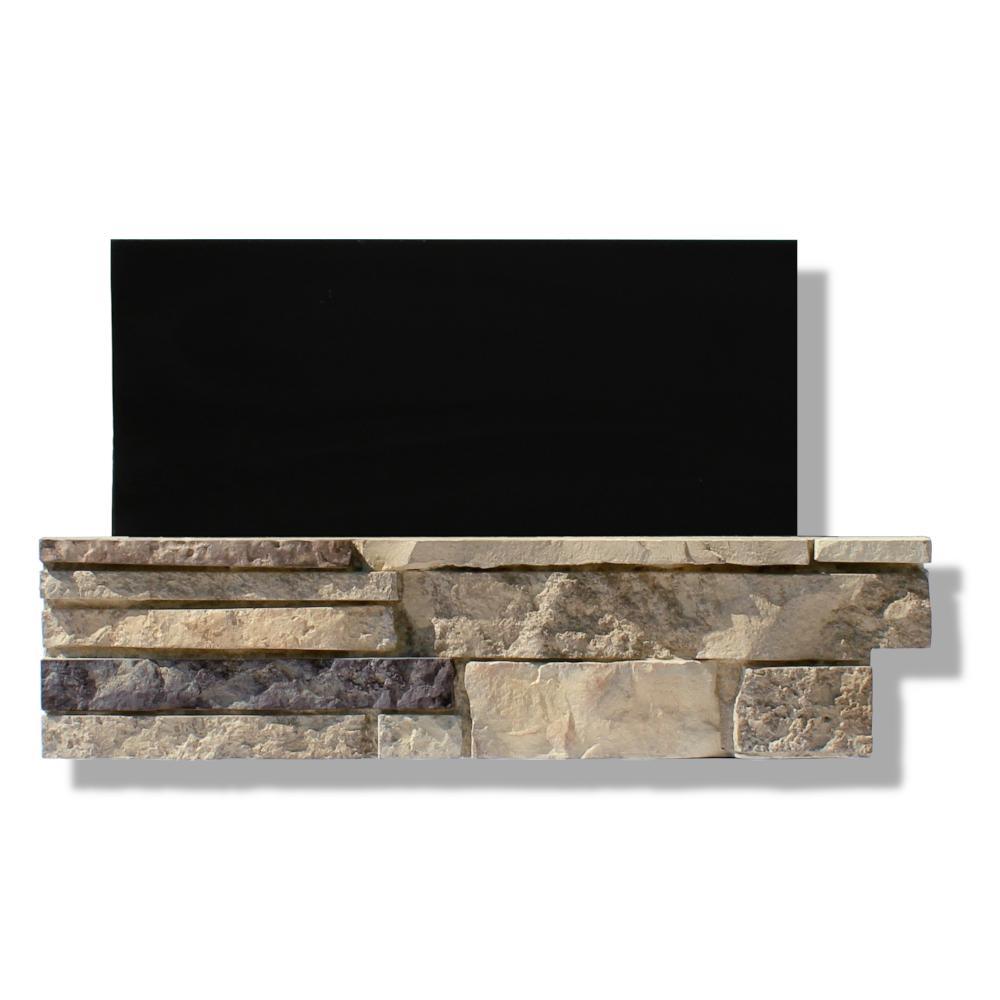 6 in. x 24 in. Stone Veneer Ledgestone Pre-Cut Corners Dakota Sunset (Box of 8)