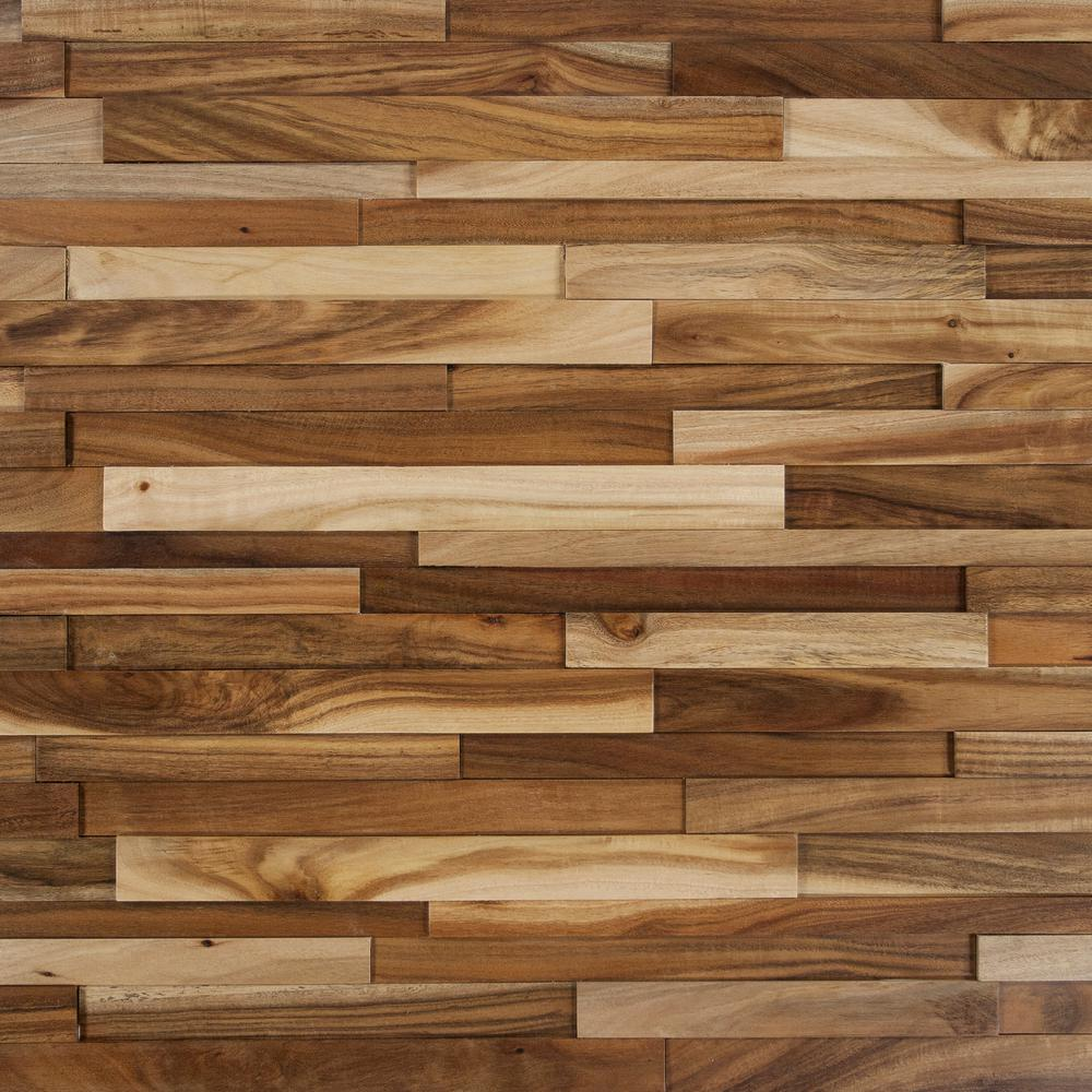 Take Home Sample  Deco Strips Wheat Engineered Hardwood Wall 5 In X Light Acacia Wood Samples Flooring The Depot