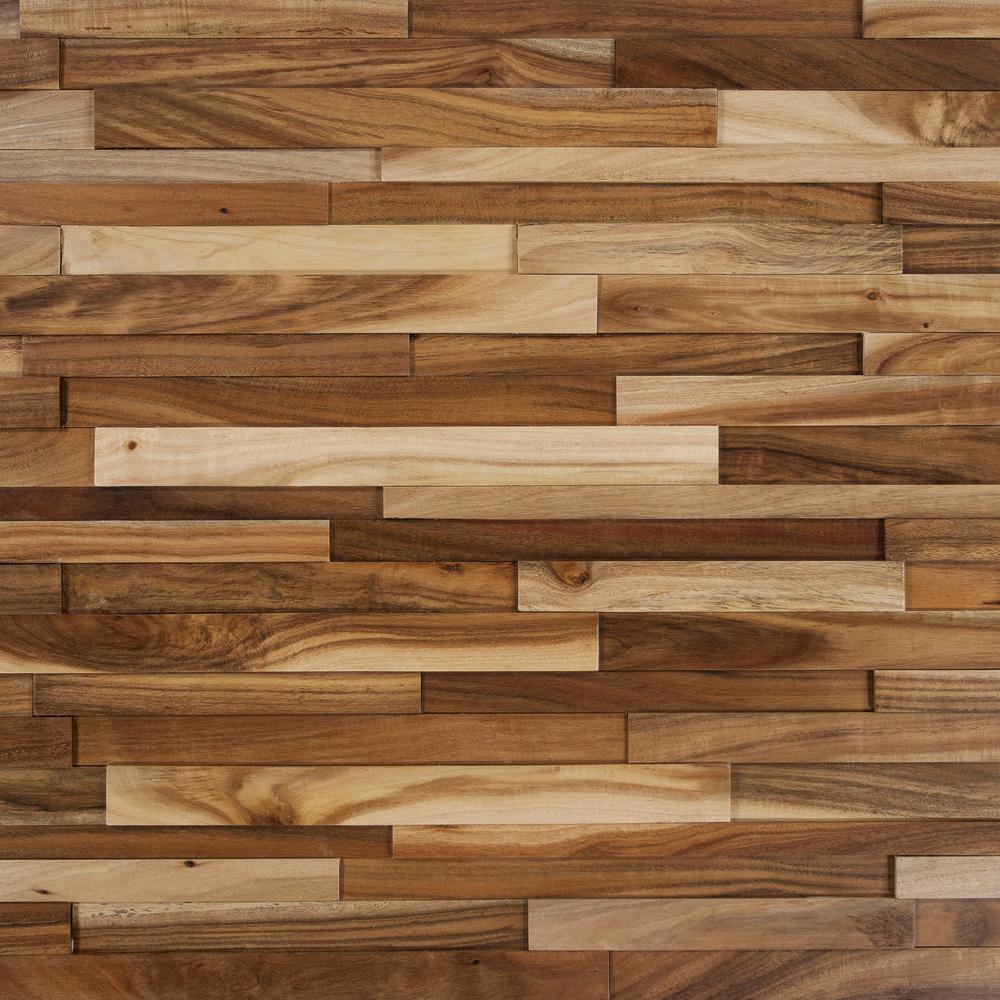 Take Home Sample - Deco Strips Wheat Engineered Hardwood Wall Strips - 5 in. x 7 in.