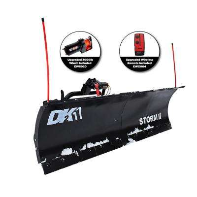 Storm II 84 in. x 22 in. Snow Plow for Trucks and SUVs (Requires Custom Mount)