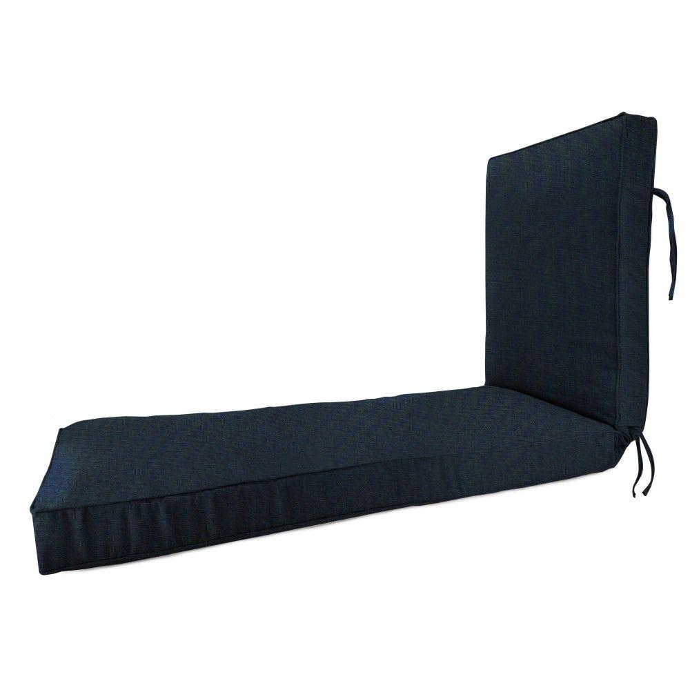 Sunbrella Canvas Navy Outdoor Chaise Lounge Cushion