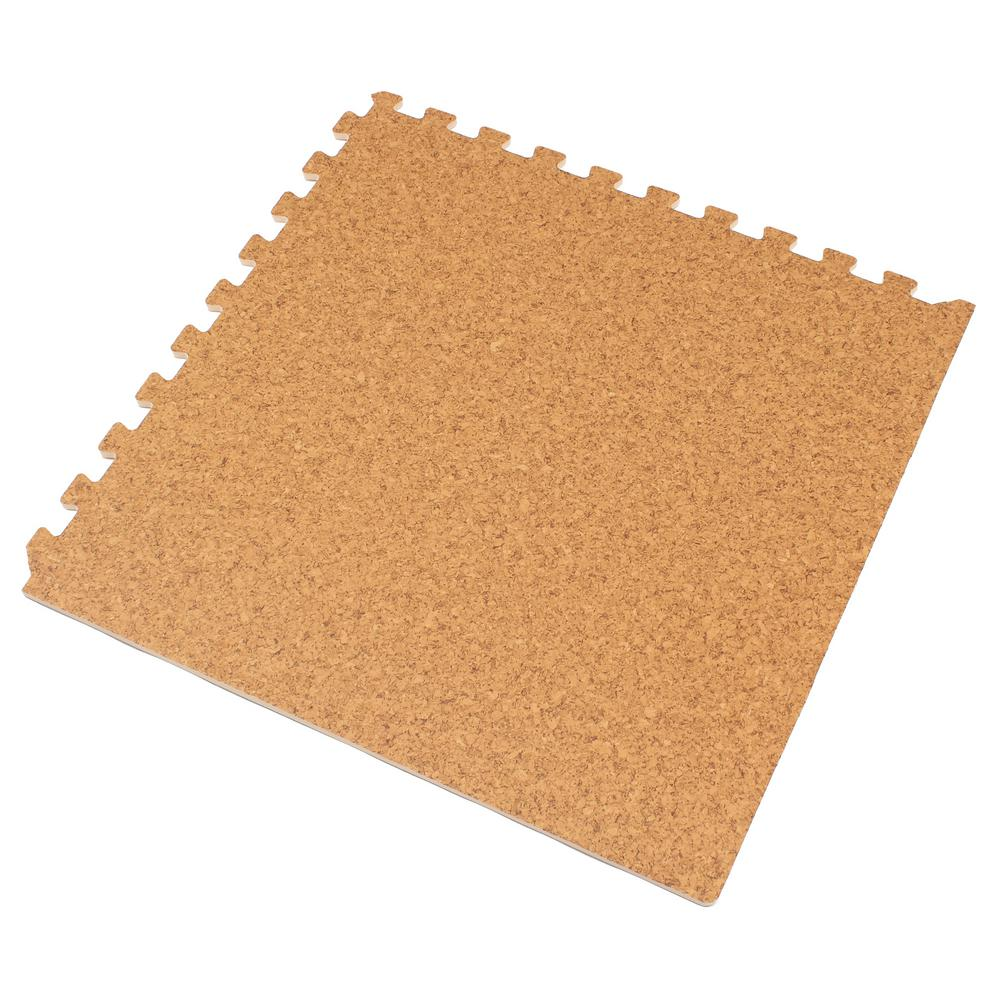 Light Cork Printed Wood Grain 24 in. x 24 in. x