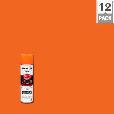 17 oz. M1600 System Precision Line Solvent-Based Fluorescent Orange Inverted Marking Spray Paint (12-Pack)