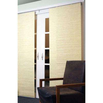 Panel Track Blinds Kansas Nature Polyester Cordless Vertical Blinds - 80 in. W x 96 in. L