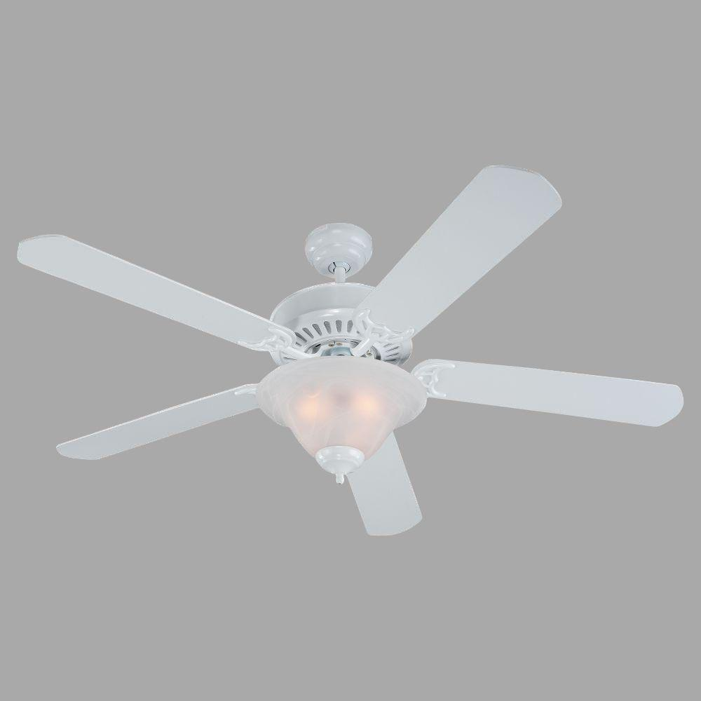 Sea Gull Lighting Quality Pro Deluxe 52 in. White Indoor Ceiling Fan