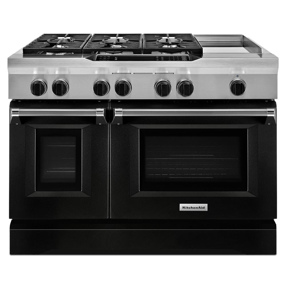 48 in. 6.3 cu. ft. Dual Fuel Range Double Oven with
