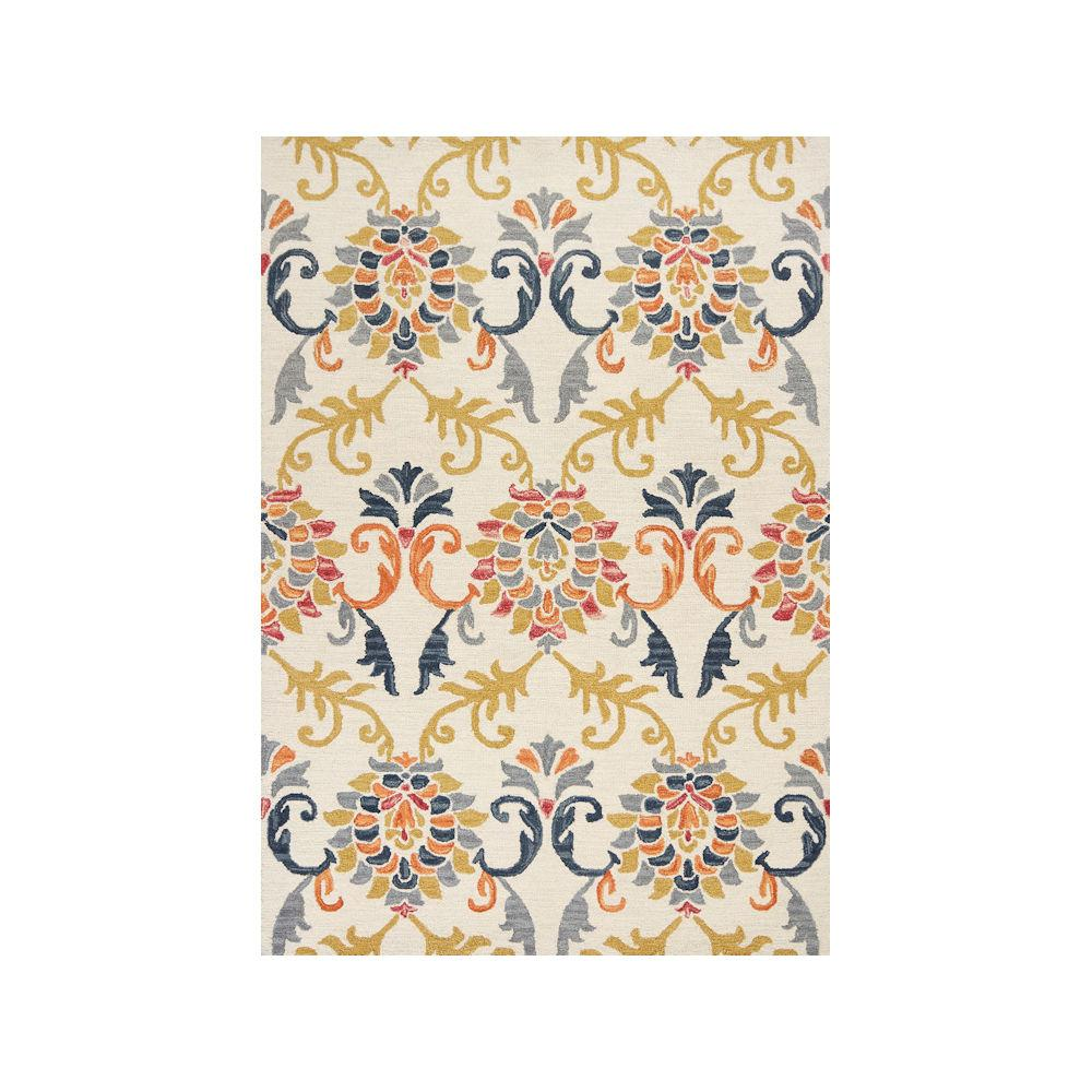 Kas Rugs Lisbon 2902 Ivory Serafina 8 ft. x 10 ft. Area Rug Select the Kas Rugs 8 ft. x 10 ft. Area Rug to enhance your home. This hooked rug has a stain-resistant construction and fade-resistant materials. It is designed with elements of cream for a light and neutral accent to your decor. It has an oriental pattern for a crafted piece that never goes out of style. With a 100% wool design, this hooked rug retains heat and keeps your house warm. It does not emit VOC gases, ensuring that there is no need to aerate it prior to taking it indoors. Color: Ivory.