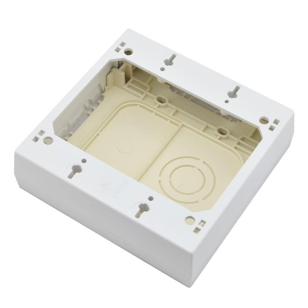 Legrand Wiremold Non-Metallic PVC Raceway 2 Gang Outlet Box, White