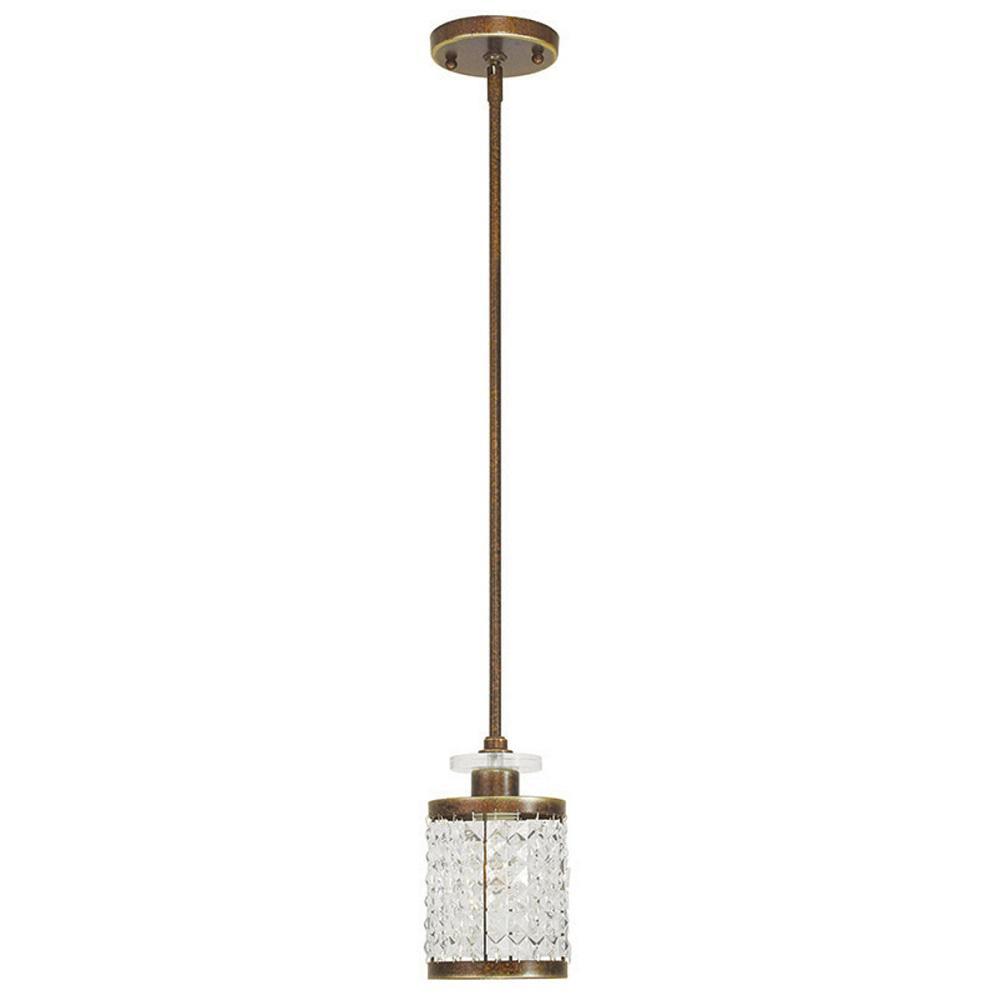 Livex Lighting Grammercy 1-Light Palacial Bronze Mini Pendant