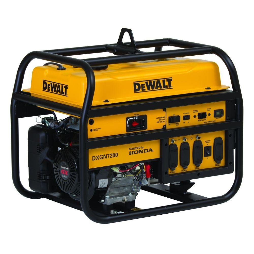 DEWALT 7,200-Watt Gasoline Powered Electric/Manual Start Portable Generator with Honda Engine