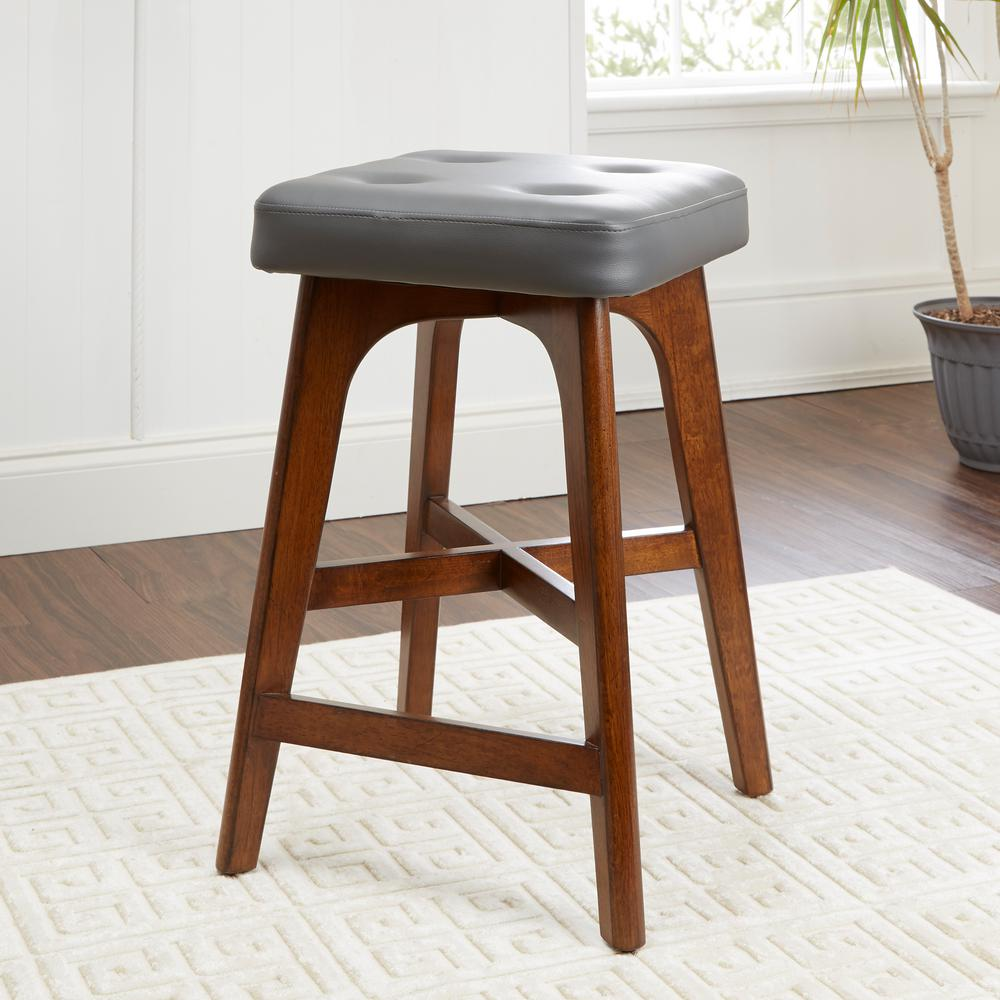 Beacon 24 in. Brown Bar Stool