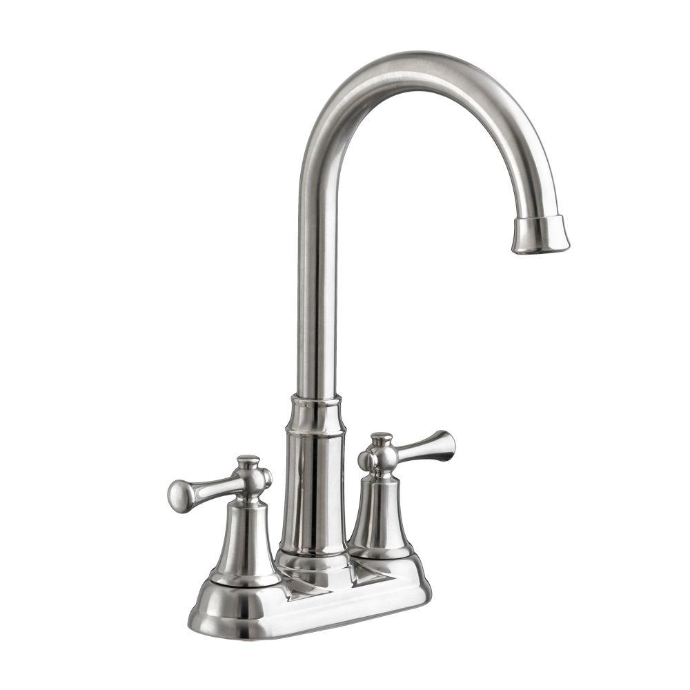 Portsmouth 2-Handle Bar Faucet in Stainless Steel