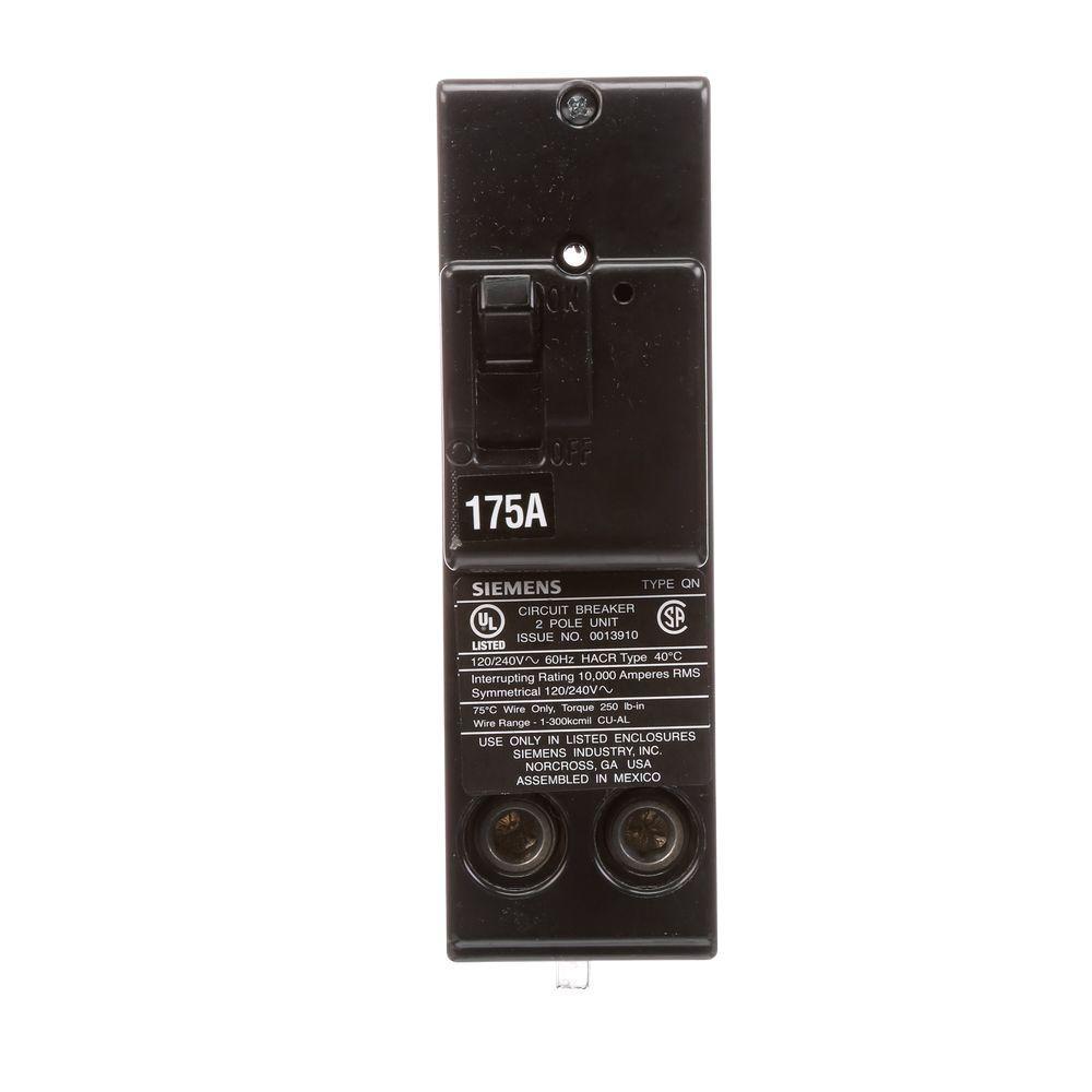 175 Amp Double-Pole Type QN 10kA Circuit Breaker