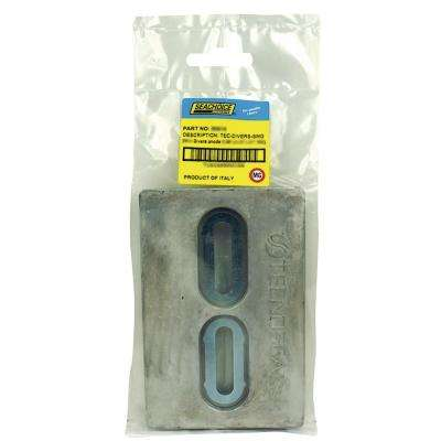 6 in. x 4 in. x 1/2 in. Diver's Anode Magnesium