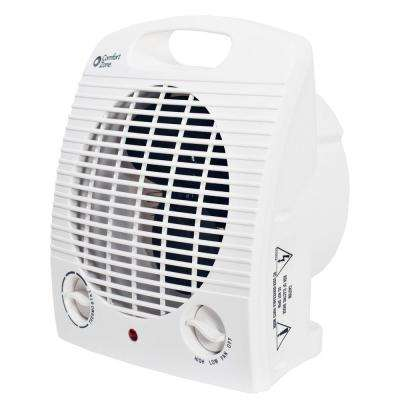 750/1,500-Watt Portable Compact Heater with Thermostat in White