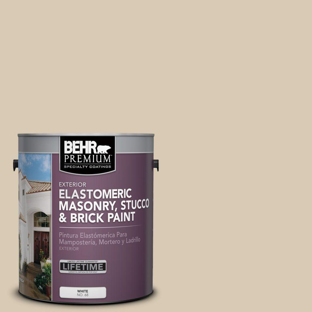 BEHR Premium 1 gal. #MS-41 Sandstone Beige Elastomeric Masonry, Stucco and Brick Exterior Paint