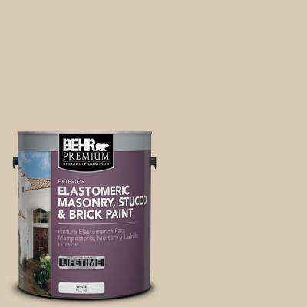 1 gal. #MS-41 Sandstone Beige Elastomeric Masonry, Stucco and Brick Exterior Paint