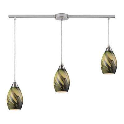 Formations/Planetary 3-Light Satin Nickel Ceiling Mount Pendant  sc 1 st  The Home Depot & Titan Lighting - Green - Pendant Lights - Lighting - The Home Depot azcodes.com
