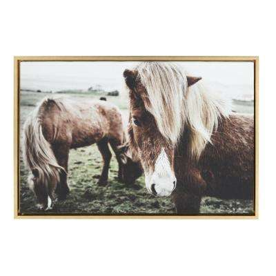 "Sylvie ""Pretty Horses"" by Amy Peterson Framed Canvas Wall Art"