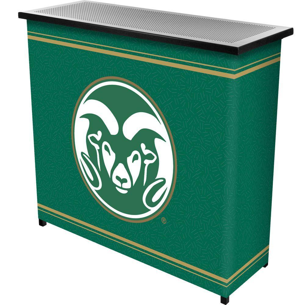 Colorado State 2-Shelf Black Bar with Case