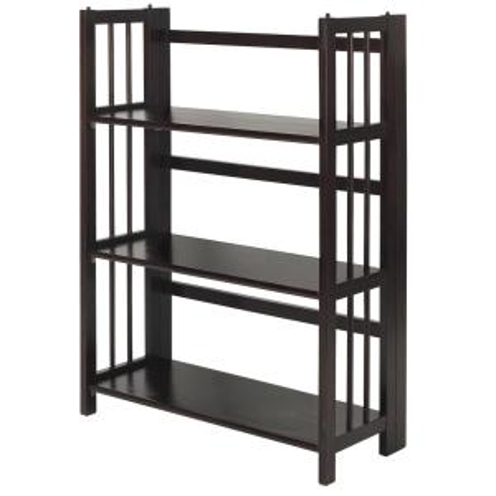 Casual Home 27 5 In Wide Espresso 3 Shelf Folding Stackable