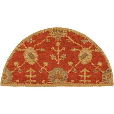 Avitus Rust 2 ft. x 4 ft. Hearth Indoor Area Rug